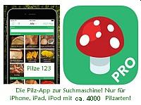 Pilzapp für iPhone, iPad, iPod - Pilze 123